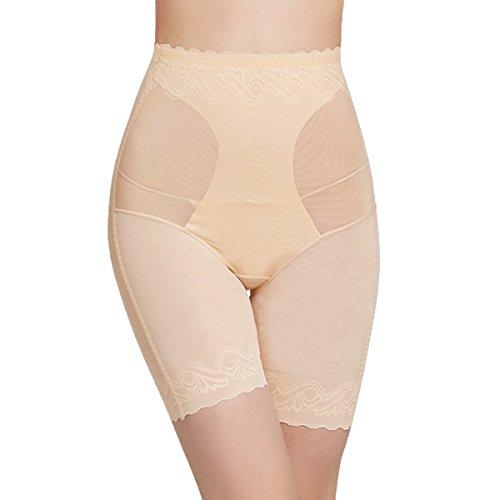 Shymay Women's Thigh Shapewear Seamless Panel High Waist Long Leg Thigh Slimmer, Nude, Tag size 2XL=US size (Just Enough Hi Waist Brief)