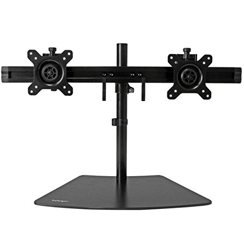 """StarTech.com Dual Monitor Stand - Crossbar - Supports Monitors up to 24"""" - Vesa Mount - Adjustable Computer Monitor Arm"""