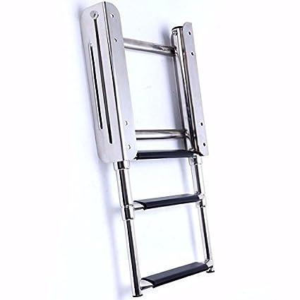 Amazon.com: Hoffen - Escalera telescópica de 3 escalones de ...