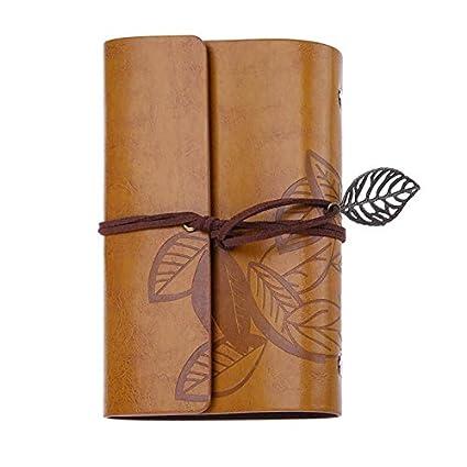 Amazon.com : OPL Mart Sketch Book Hardcover Vintage Leaves ...