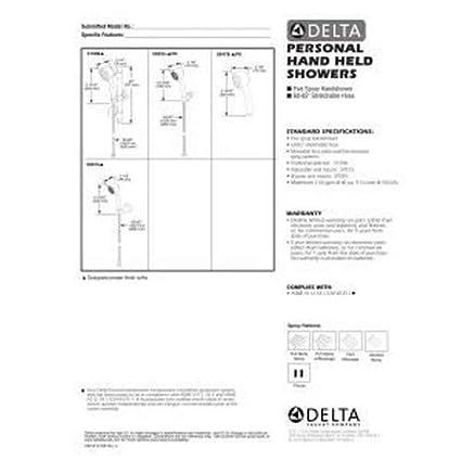 Delta Faucet 59515 Adjustable Wall Mount Handshower Chrome