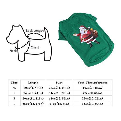 D-ModernPet Dog Costume Hot Christmas Pet Shirt Santa Claus Dog Cat Puppy Kitten Cosplay Costume Cute Fashion Soft Elastic Props -