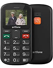 artfone S181) Seniorenmobiele telefoon zonder contract, dual SIM met noodoproepknop, gepensioneerde mobiele telefoon met grote toetsen, mobiele telefoon voor mobiele telefoon, mobiele telefoon met grote toetsen, motief S181, formaat: dual SIM