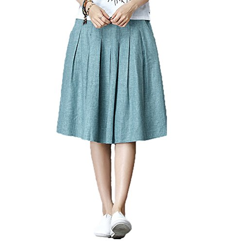 Seamed Denim Skirt - 9