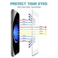 """iPhone 7 / 8 Screen Protector, 9H Hardness iPhone 7 / iPhone 8 Front Back Tempered Glass Screen Protector 3D Full Coverage 4.7"""" (White)(1 Front and 1 Back) by Ehpow"""