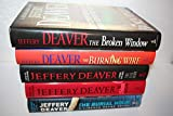 Jeffery Deaver's Lincoln Rhyme 5-book First Edition Collection[[8. The Broken Window (2008) 9. The Burning Wire (2010) 10. The Kill Room (2013) 11. The Skin Collector (2014) 13. The Burial Hour (2017)