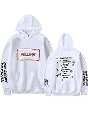Mannen Hoodie lil peep Print Vrouwen Witte Hoodie Vrije tijd Jongen/Meisje Smiley Face Print Sweatshirts