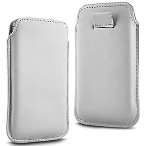 Online-Gadgets UK - HTC Desire 510 Prima Soft PU de cuero Flip Case ficha de extracción - Blanco