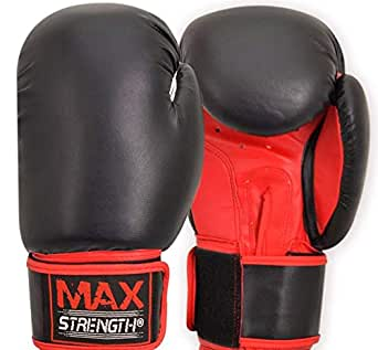 Boxing Gloves Kick Punch Bag Muay Thai UFC Fight Training Mitts MMA 10 oz-Max Strength
