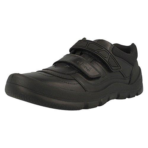 Start Rite Rhino Warrior Large, Zapatillas Para Niños Black Leather