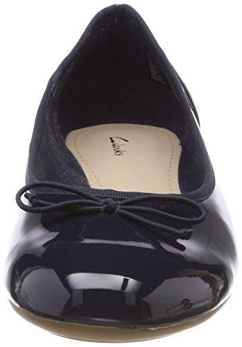 Clarks Damen Couture Bloom Geschlossene Ballerinas Blau (Navy Patent)