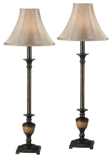 Amazon.com: kenroy Home 30944 Emily Buffet lámpara, 2 Pack ...
