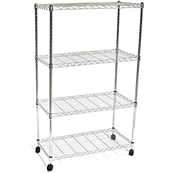 Amazon.com: Seville Classics 4-Tier UltraZinc NSF Steel Wire ...