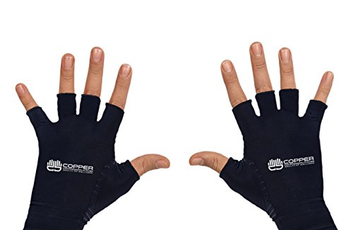 Wealth of Wellness Copper Compression Gloves for Rheumatoid Arthritis, Pain Relief, and Therapy Associated With Symptoms Of Carpal Tunnel Disorders (Everyday Bmx Bike)