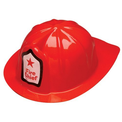Fun Express Rhode Island Novelty Plastic Firefighter Chief Hat (Set of 12) (Toddler Hat Party)