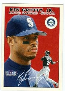Ken Griffey Jr baseball card (Seattle Mariners) 2000 Fleer Tradition #222