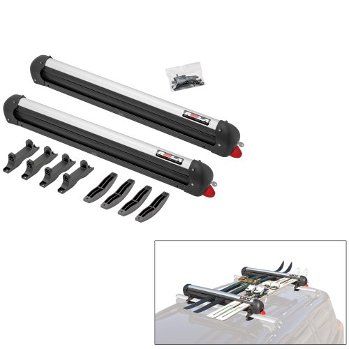 ROLA Roof Top Ski & Snowboard Carrier - 6-Pairs of Skis or 4-Snowboards