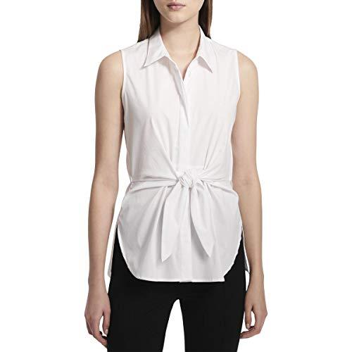 Calvin Klein Women's Sleeveless Tie Waist Tunic, Soft White, L ()