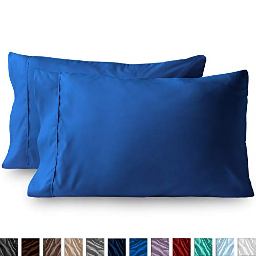 Bare Home Premium 1800 Ultra-Soft Microfiber Pillowcase Set - Double Brushed - Hypoallergenic - Wrinkle Resistant (Standard Pillowcase Set of 2, Medium Blue)