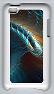 iPod 4 Case, iPod 4 Cases - Blue Gold Abstract Spiral 3D Custom Design iPod 4 Case Cover - Polycarbonate¨CWhite