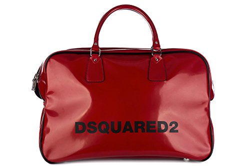 Dsquared2 travel duffle weekend shoulder bag seventies duffle red by DSQUARED2