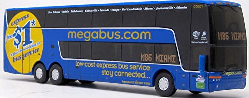 Prevost Bus (Megabus Double Decker Bus Diecast Model Bus Ho Scale)