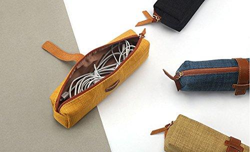 Cupcinu 1PCS Baumwolle Leinen Bleistift Tasche kawaii Stifte Bleistifte Fall Mini Aufbewahrungstasche, canvas, F, 19 x 5.5 CM D