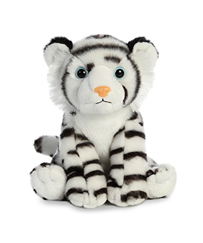 Aurora World White Tiger Plush, Black/White, Small