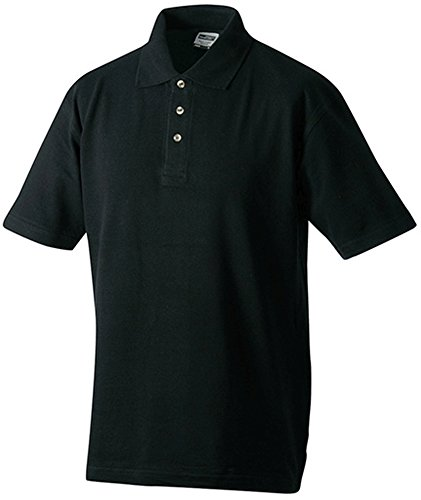 James & Nicholson - Polo-Pique-Medium - bis 5XL 3XL,Black