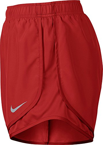 Nike Womens Vochtafvoerende Colorblock Shorts Rood