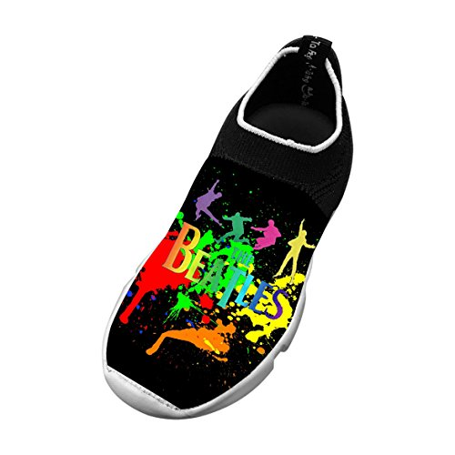 The_Beatles_Logo Customized Printing Children's Slip-on Flyknit Lightweight Outdoor Sport Shoes