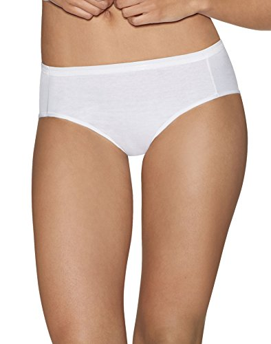 Hipster Comfort (Hanes Womens Ultimate Comfort Cotton 5-Pack Hipsters, 41HUCC, 6, White)