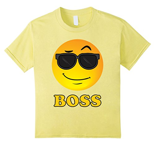 Kids Boss Emoji Shirt.Smiley Face with Sunglasses T-shirt 6 - With Faces Sunglasses Smiley