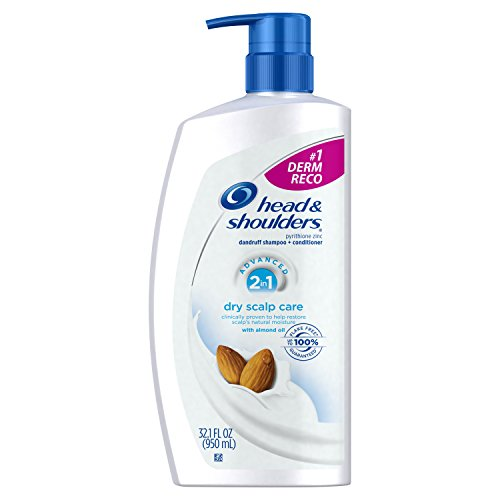 Head and Shoulders Dry Scalp Care with Almond Oil 2-in-1 Anti-Dandruff Shampoo + Conditioner 32.1 fl oz (2in 1 Shampoo Dandruff)