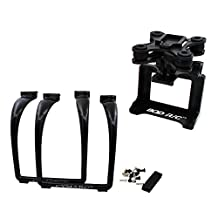 BTG Upgrade Extended Tall Landing Gear with Wide Shooting Angle and Anti-shock Anti-Jello Camera Holder Gimbal Mount Adapter for Syma X8G X8HG X8C X8HC X8W X8HW MJX BUGS 3 X101 X102H RC Drone -Black