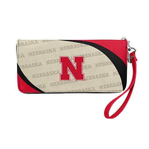 NCAA Nebraska Cornhuskers Curve Zip Organizer Wallet