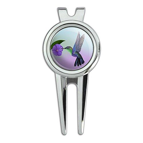 Golf Hummingbird (GRAPHICS & MORE Hummingbird Crowned Woodnymph Purple Violet Golf Divot Repair Tool and Ball Marker)