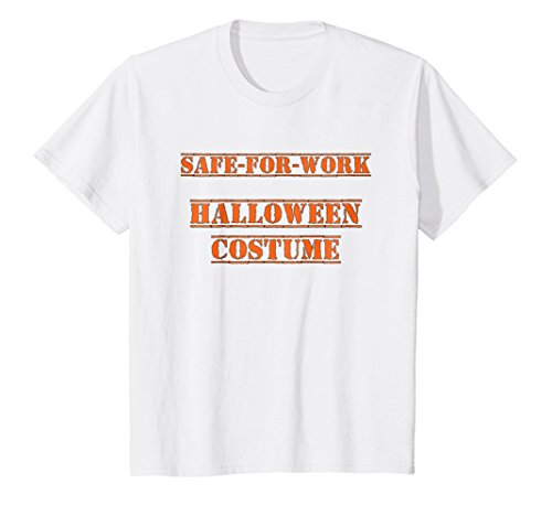Kids Safe For Work Halloween Costume T-Shirt 8 White for $<!--$18.99-->