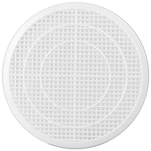 WEYNG Drain Filter Net Hair Catcher Stopper Bathroom Bathtub Shower Drain Protector Kitchen Sink Strainer Cover Round White Can Be Cut