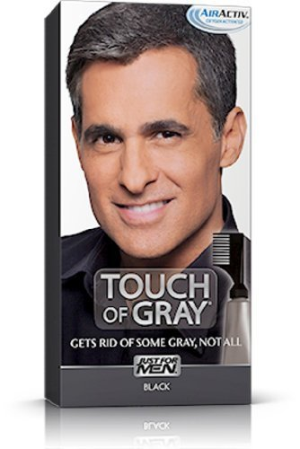 Just for Men Hair Color -- Touch of Gray, Black-Gray. 3 Pack