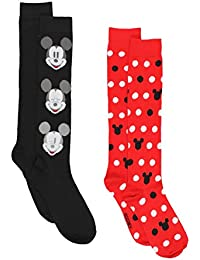 Mickey Mouse Womens 2 pack Socks (Big Kid/Teen/Adult)