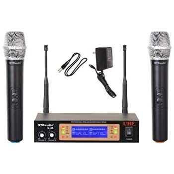 GTD Audio U-35H UHF Wireless Microphone System with 2 microphones