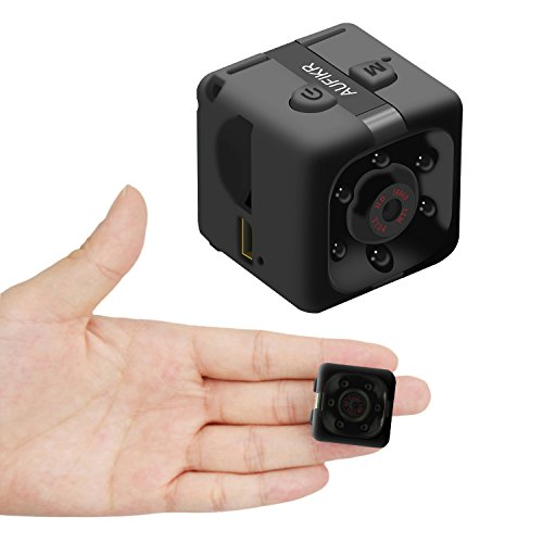 Aufikr Mini Camera Sports HD DV Camera 1080P Portable Tiny Video Camera with IR Night Vision & Motion Detection, Small Surveillance Camera for Home Office … (Black)
