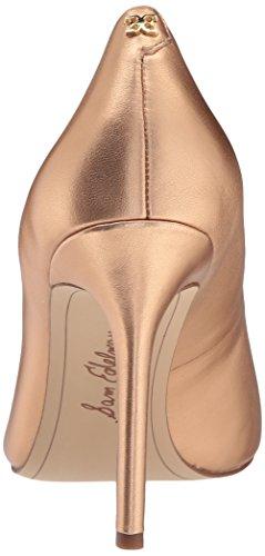 Caramel Golden leather Women Pumps golden M Edelman Sam metallic Women's Hazel 10 US copper w4qazXI