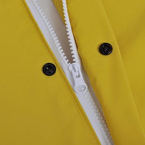 Tallas 2 Reforzado Amarillo Piezas y Chubasquero de Capucha Impermeable URxtcTw0