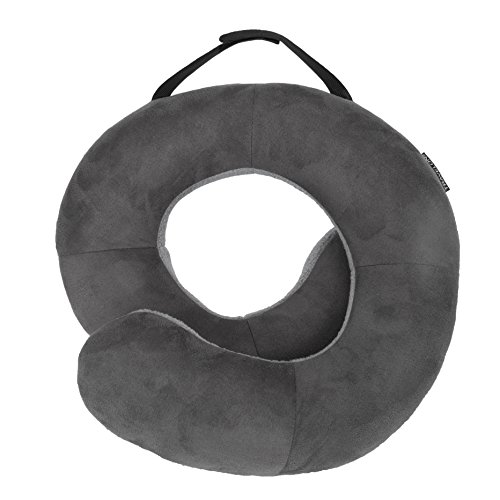 Deluxe Ostrich (Travelon Deluxe Wrap-n-Rest Pillow, Dark Light Gray)