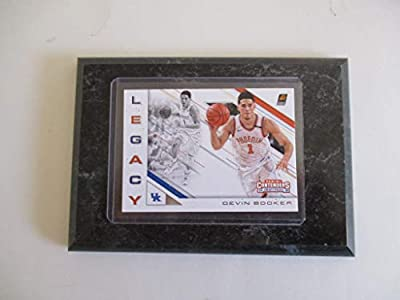 "Devin Booker University Of Kentucky/phoenix Suns Panini Contenders Nba 2018""legacy"" Draft Picks (white Jersey) Player Card Mounted On A 4"" X 6"" Black Marble Plaque"
