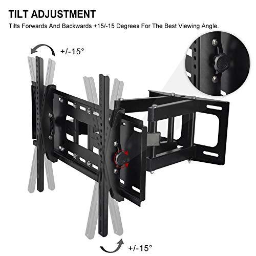Tilt Swivel Full Motion Articulating TV Bracket LCD OLED QLED Smart Plasma TV Monitor 1080p Full 3D TVs 600x400mm to lbs Cable
