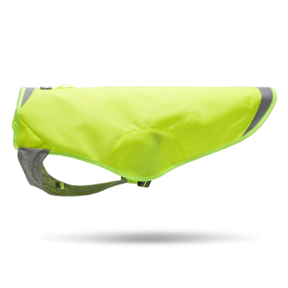 Green 31.5CM Green 31.5CM Pessica Pet outdoor clothes, dog sports chest back, waterproof and breathable, reflective coating, comfortable and safe and sizes,Green,31.5CM