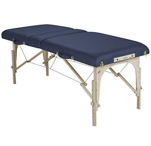 """EARTHLITE Portable Massage Table Package AVALON TILT - Reiki Endplate, Premium Flex-Rest Face Cradle & Strata Cushion, Carry Case (30""""x73"""")"""